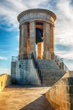 Valletta, Malta: Siege Bell Memorial. In the morning Royalty Free Stock Photography