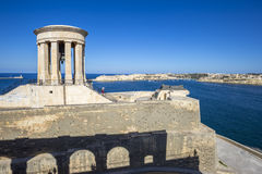 Valletta, Malta - Siege Bell War Memorial at the Grand Harbor Stock Photo