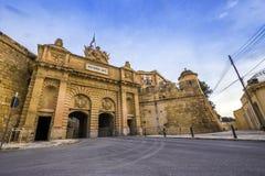 Valletta, Malta - Victoria gate, entrance to the ancient city of Valletta Stock Photo