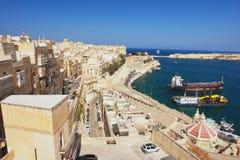 Valletta, Malta. View from the Valletta of the Grand Harbour, Malta Stock Photo