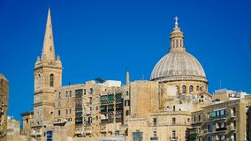 VALLETTA - MALTA: View of Valletta. Valletta - Italian word for Small valley is the capital city of Malta. VALLETTA - MALTA: View of Valletta. Valletta Royalty Free Stock Photo