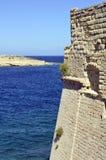 Valletta,Malta. View at the ocean and fortress in Valletta,Malta Stock Photos