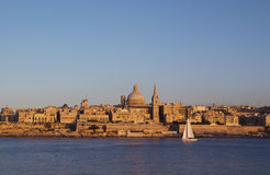 Valletta, Malta. View of Valletta with Our Lady of Mount Carmel church dome, Malta Royalty Free Stock Photos