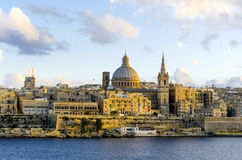 Valletta , Malta , view before sunset Stock Photo