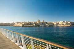 Valletta, Malta. Viewed from Sliema Stock Images