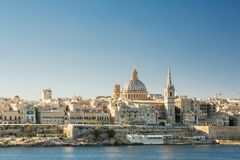 Valletta, Malta, viewed from Sliema. Valletta, Malta, view from Sliema Royalty Free Stock Photos
