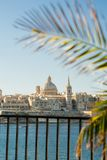 Valletta, Malta, viewed from Sliema. Clear sunny day Stock Photos