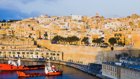 Valletta Malta Waterfront Buildings Stock Photos