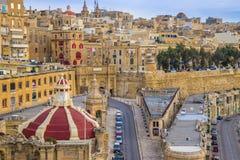 Valletta, Malta - Zonsopgang in Valletta stock foto's