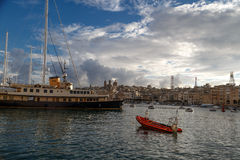 Valletta Marina View Stock Photo