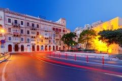 Valletta. Mediterranean harbor. Stock Photos