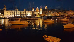 Valletta nightscene Royaltyfria Foton