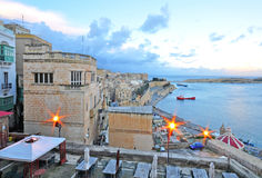Valletta old town. On sunset Royalty Free Stock Photos