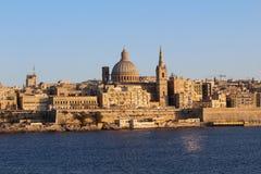 Valletta, Panorama, Hoofdstad, Republiek Malta Stock Foto's