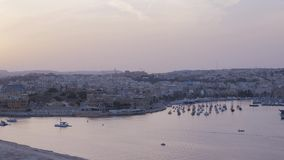 Valletta. Panorama Of Valletta Malta October 2014 stock video footage