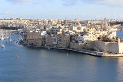 Valletta, Panoramablick, Hauptstadt, Republik Malta Stockfotos