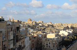 Valletta, Panoramablick, Hauptstadt, Republik Malta Lizenzfreies Stockfoto