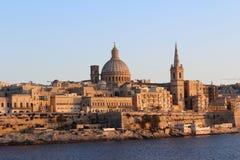Valletta, Panoramablick, Hauptstadt, Republik Malta Lizenzfreies Stockbild