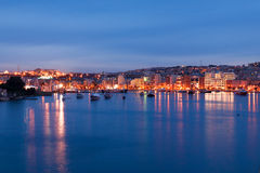 Valletta seafront skyline view as seen from Sliema, Malta. Royalty Free Stock Image