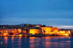 Valletta seafront skyline view as seen from Sliema, Malta. Royalty Free Stock Photography
