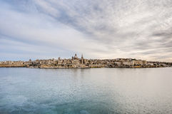Valletta seafront skyline view, Malta Stock Photo