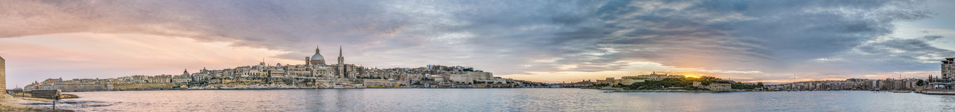 Valletta seafront skyline view, Malta Stock Image