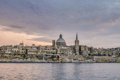 Valletta seafront skyline view, Malta Stock Photography