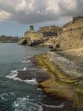 Valletta-Seeseite, Malta Lizenzfreie Stockfotografie
