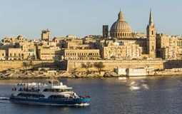 Valletta-Skyline Stockfotos