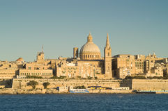 Valletta skyline Stock Photography
