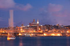 Valletta Skyline In The Evening Stock Image