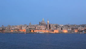 Valletta Skyline. In the Evening, Malta stock video