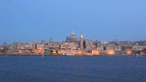 Valletta Skyline stock video