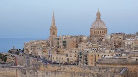 Valletta. Skyline Of Valletta Malta October 2014 stock video