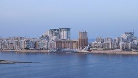 Valletta. Skyline Of Valletta Malta October 2014 stock footage