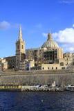 Valletta skyline, Malta Royalty Free Stock Photography
