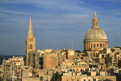 Valletta skyline, Malta Royalty Free Stock Images