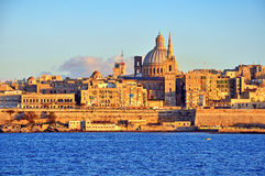Valletta skyline, Malta Royalty Free Stock Photos