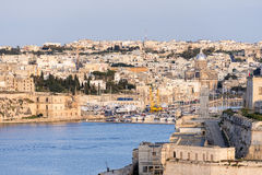 Valletta Skyline and port at golden hours Stock Photography