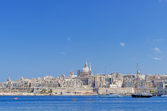 Valletta skyline with the Saint Pauls Cathedral Malta Royalty Free Stock Photos