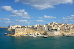 Valletta Skyline. Valletta waterfront grand port Malta Royalty Free Stock Photos