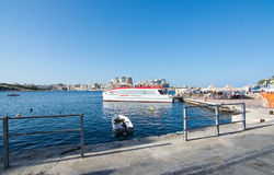 Valletta Sliema Ferries Royalty Free Stock Photos