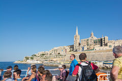 Valletta Sliema Ferries Stock Photo