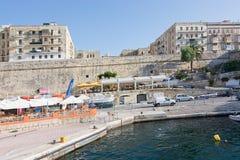 Valletta Sliema Ferries. SLIEMA, MALTA - SEPTEMBER 15, 2015: Ferry route from Valletta to Sliema Ferries terminal on September 15, 2015 in Valletta, Malta Stock Image
