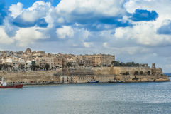 Valletta south waterfront in Malta Royalty Free Stock Images