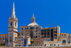 Valletta. St. Paul`s Cathedral. Stock Photos