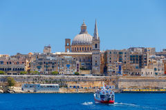 Valletta. St. Paul`s Cathedral. Royalty Free Stock Photo