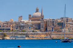 Valletta. St. Paul`s Cathedral. Royalty Free Stock Images