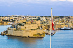 Valletta storslagen hamn, Malta Royaltyfria Bilder