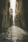 Valletta Street. A picture of a street in Valletta, Malta Stock Photo
